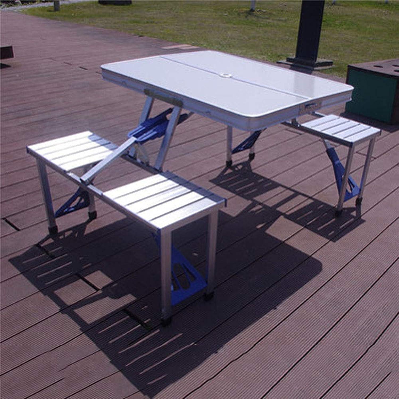 HXPH Outdoor Klapptisch und Stühle tragbare Auto-Box-Stil Picknick-Tisch Stnde Camping Grill selbstfahrende Aluminium-Tisch