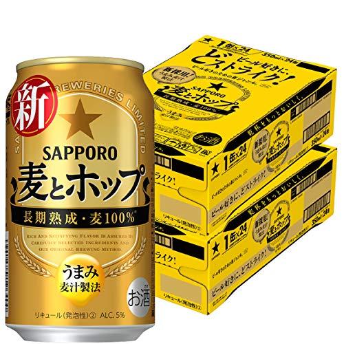 [Amazon限定ブランド]【新ジャンル】サッポロ 麦とホップ [ 350ml×24本×2箱 ] SIQOA