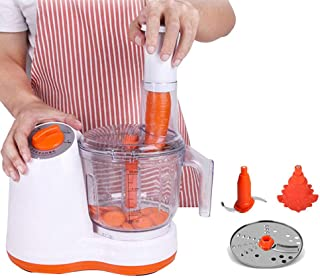 Trancheur de Nourriture, mélangeur de Robot culinaire électrique, trancheur de Mandoline Multifonctionnel, 4 Lames en Acie...