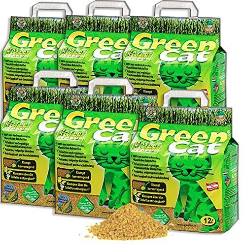 Green Cat Katzenstreu Klumpstreu 6X 12L (72L)