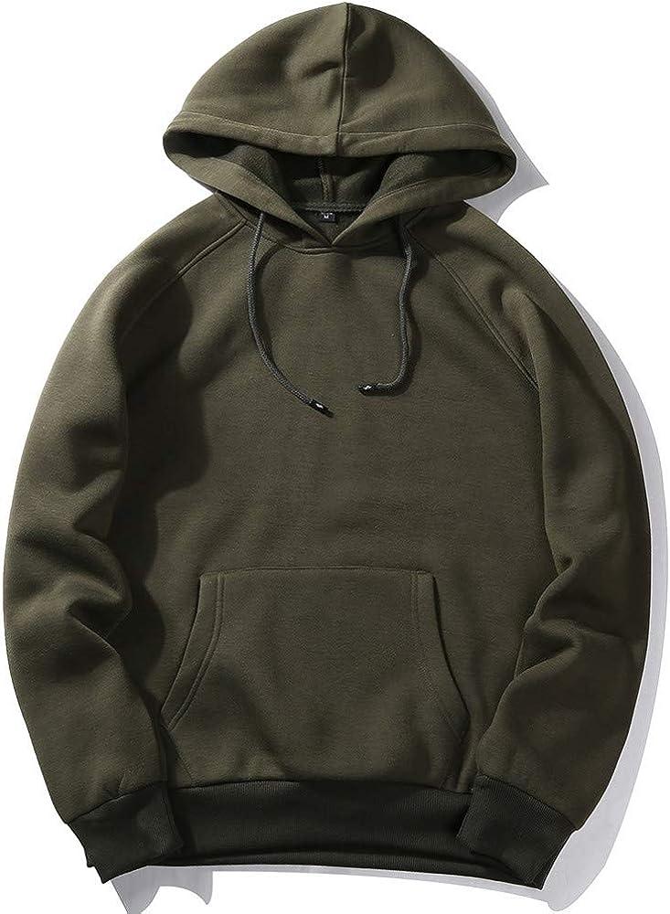 Mens Hoodies Big and Tall Fleece Pullover Long Sleeve Crewneck T-Shirts Athletic Gym Sweatshirt Casual Fall Plain Tops