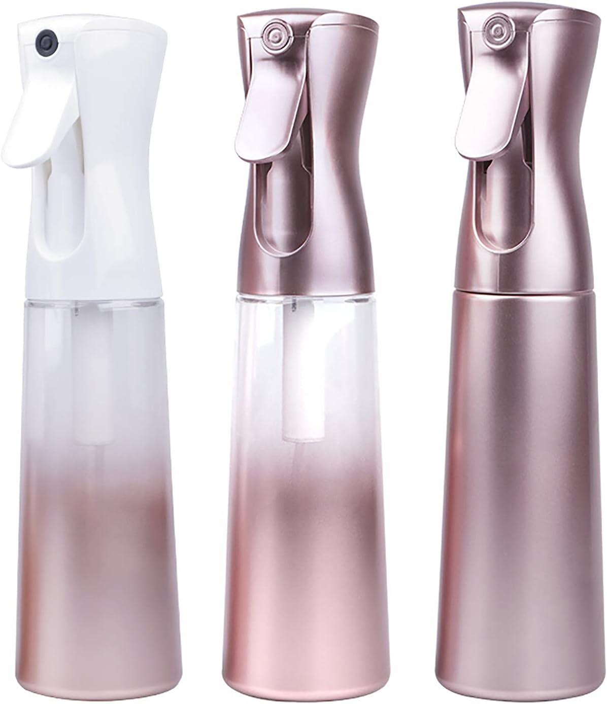 Botella de agua con rociador continuo, botella de rociador para el cabello, botella rociadora de rociador de gatillo sin aerosoles, rociador de rociador para el cabello, para limpieza, peluquería, p