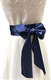 Eyrie Special Occasion Dress sash Bridal Belts Wedding sash 4'' Wide Double Side