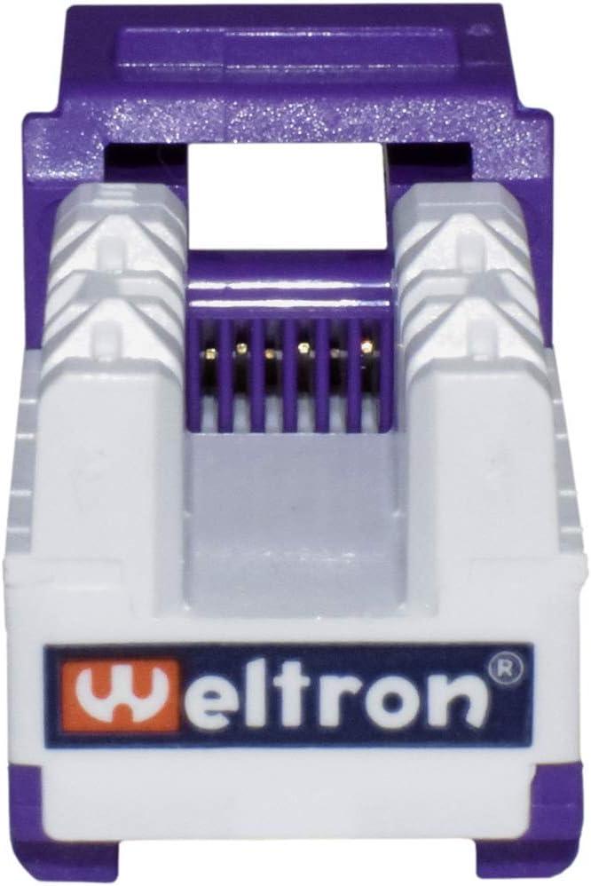 Weltron CAT6 RJ45 Keystone Punch Down Jack 25 PCS Purple