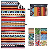 ECCOSOPHY Microfiber Beach Towel - Quick Dry Pool Towels 71x35 inches Oversized Travel Towel - Lightweight Compact Beach Accessories for Women - Large Sand Free Micro Fiber Beach Towels (Cancun)