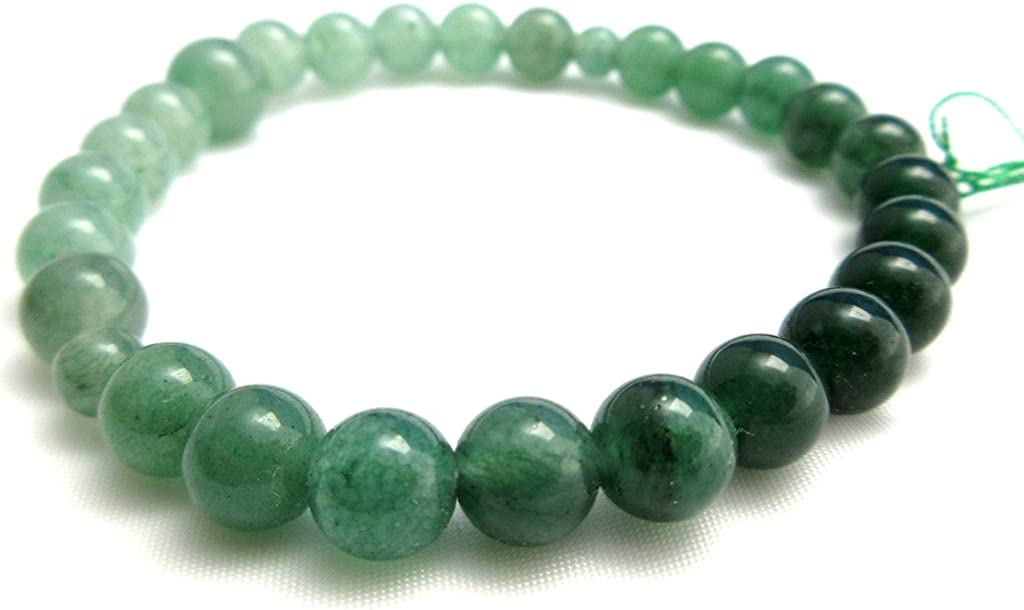 Green Aventurine Quartz Indian Jade Gradation Stone Bracelet for Women Elastic Bangle Kyoto Meditation Yoga Bracelet Gifts for her