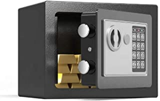 Smax Money Safe Box with Electronic Digital Touch Pad and Keys, Made with Solid Steel and Alloy