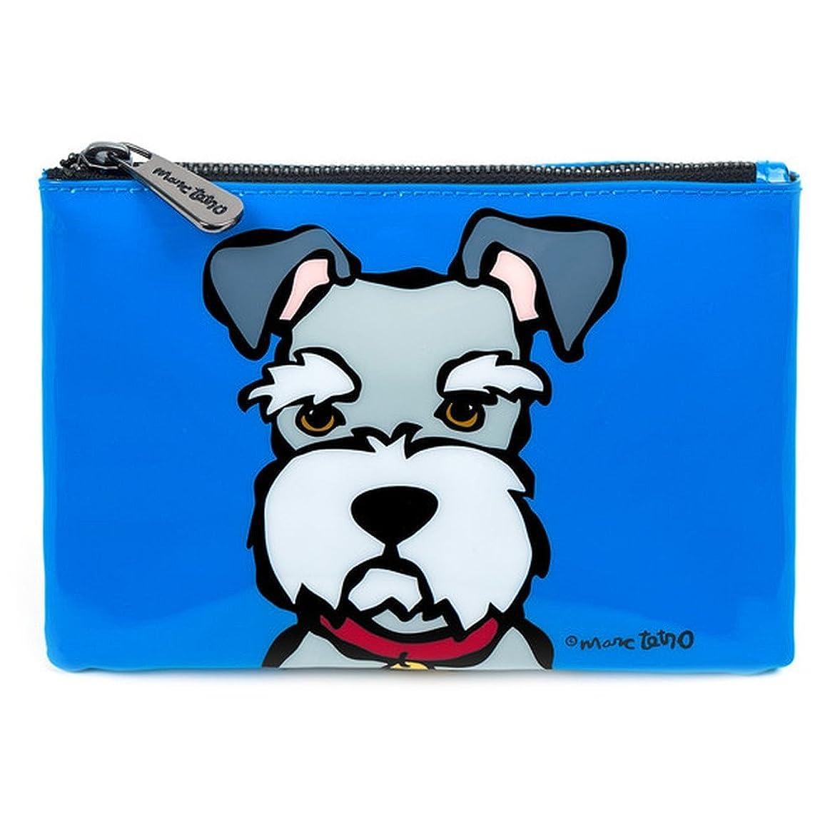 疑問に思う交じる磁石シュナウザー コスメバッグ 防水PVC ファスナー式 化粧ポーチ 小物入れ 13.5cm x 19cm 犬デザイン ミニバッグ Cosmetic Bag