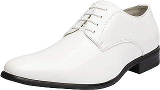 Men's Faux Patent Leather Tuxedo Dress Shoes Classic Lace-up Formal Oxford