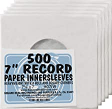(500) Archival Quality Acid-Free Heavyweight Paper Inner Sleeves for 7