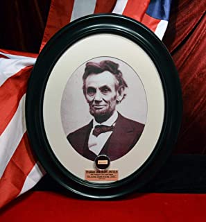 """ABRAHAM LINCOLN Signed in his hand""""SAID"""" Autograph, Plus Lincoln Home Atifact, Frame, COA, UACC, Plaque"""