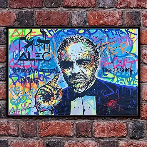 oioiu Impresiones Creativas de Graffiti Callejero y póster de Arte de Pared imágenes HD Dormitorio Pasillo Sala de Estar decoración del hogar Pintura de Pared sin Marco