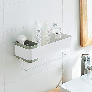 MORNITE 浴室 壁 オーガナイザー 棚 収納 接着剤 小さなアパート トイレ 必需品 シャワーキャディ 吸盤 グリーン