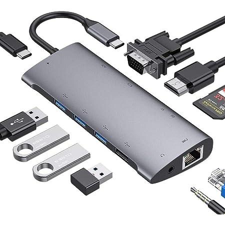 Fitfort Usb C Adapter Dual Display 12 Port Aluminium Computer Zubehör
