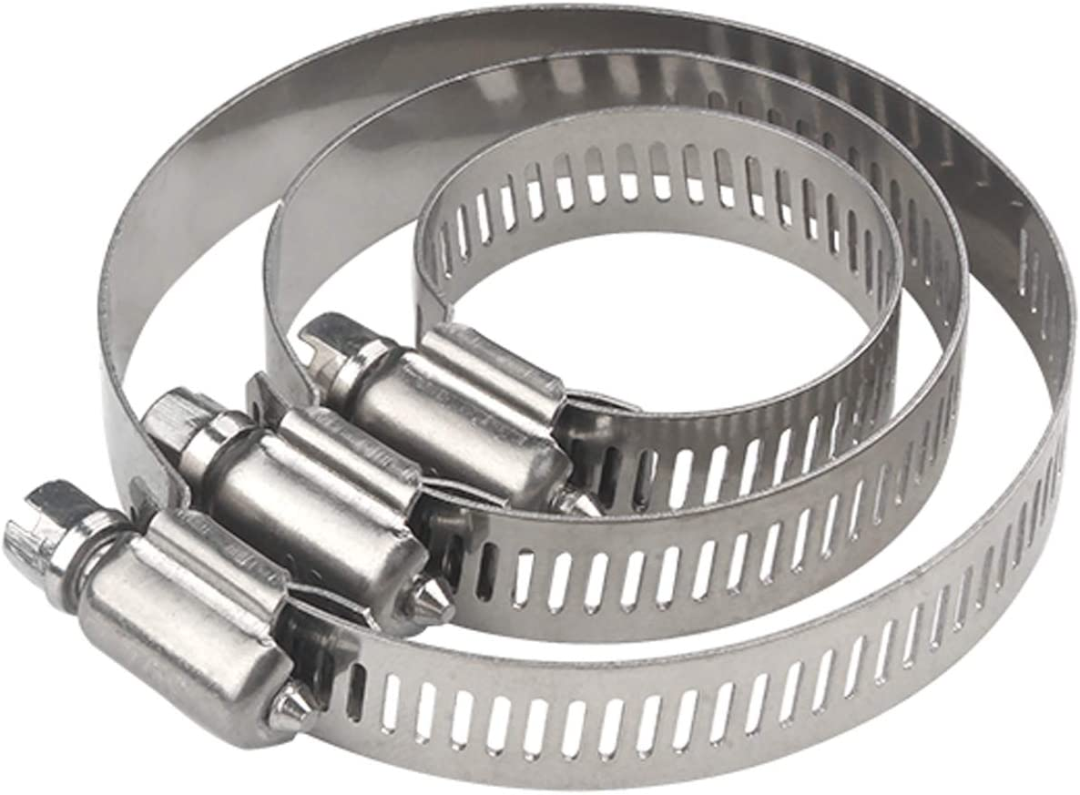 M8-16 304 Stainless Steel Hose Clips Clamp Adjustable 8mm-16mm 15pcs