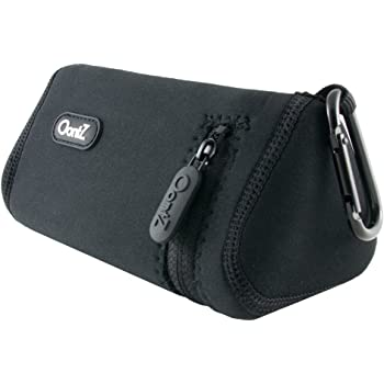 OontZ Angle 3/OontZ Angle 3 RainDance Bluetooth Speaker Official Carry Case, with Aluminum Carabiner, Neoprene Improved with Reinforced Zipper, Black [NOT for OontZ Angle 3 Plus/OontZ Angle 3 Ultra]