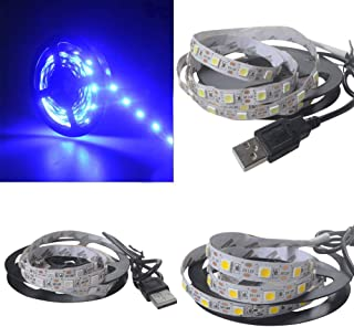 5050 Bright Led 2M USB Led Strip Lights Tv Back Light Color Changing Blue