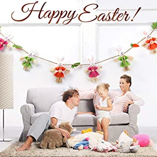 Beyonds Removable Easter Bunny Bunting Theme Party Wall Decals Time Spent with Cats Quote Decal Vinyl Sticker Nursery Pet-Shop Home Decor Art Easy to Install Vinyl Decals