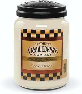 Candleberry (キャンドルベリー) アロマ キャンドル 【 全米大ヒット】人気 アロマキャンドル おいしい 香り フレグランス ろうそく [正規輸入品] (ココナッツ, L)