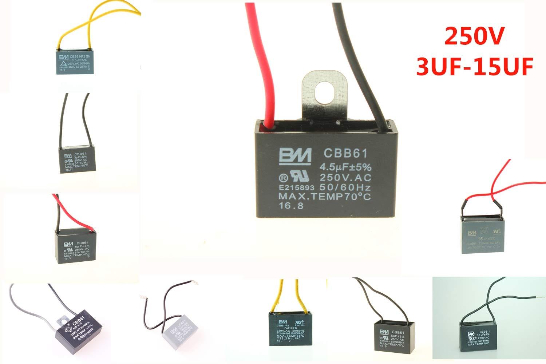 chuangneng CBB61 3UF 250 VAC 50/60 Hz ventilador de techo ...