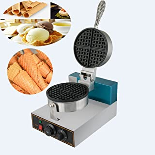 Electric Ice Cream Waffle Cone Maker Nonstick Electric Egg Cake Oven Puff Bread Maker Stainless Steel Waffle Bake Machine,Roll Maker Baker Pastry (Free US Shipping)