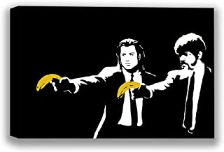 Banksy Canvas Art Bananas Canvas Street Decor Funny Pulp Fiction Picture Wall Art Pulp Fiction Banksy Street Artist Tarantino Movie Poster 8