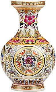 fanquare Jingdezhen keramische bloemenvaas, handgemaakte porseleinen decoratieve vaas voor middenstukken, hoogte 25cm