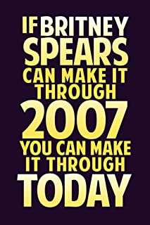 Britney Spears If Britney Spear Can Make It Through 2007 Dark Purple Cubicle Locker Mini Art Poster 8x12