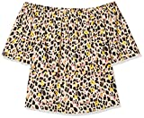 SIMPLY BE Ladies Multi 3/4 Sleeve Bardot Top Blusas, Multicolor (Animal Print 001), 50 para Mujer