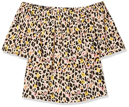 SIMPLY BE Damen Ladies Multi 3/4 Sleeve Bardot Top Bluse, Mehrfarbig (Animal Print 001), 46