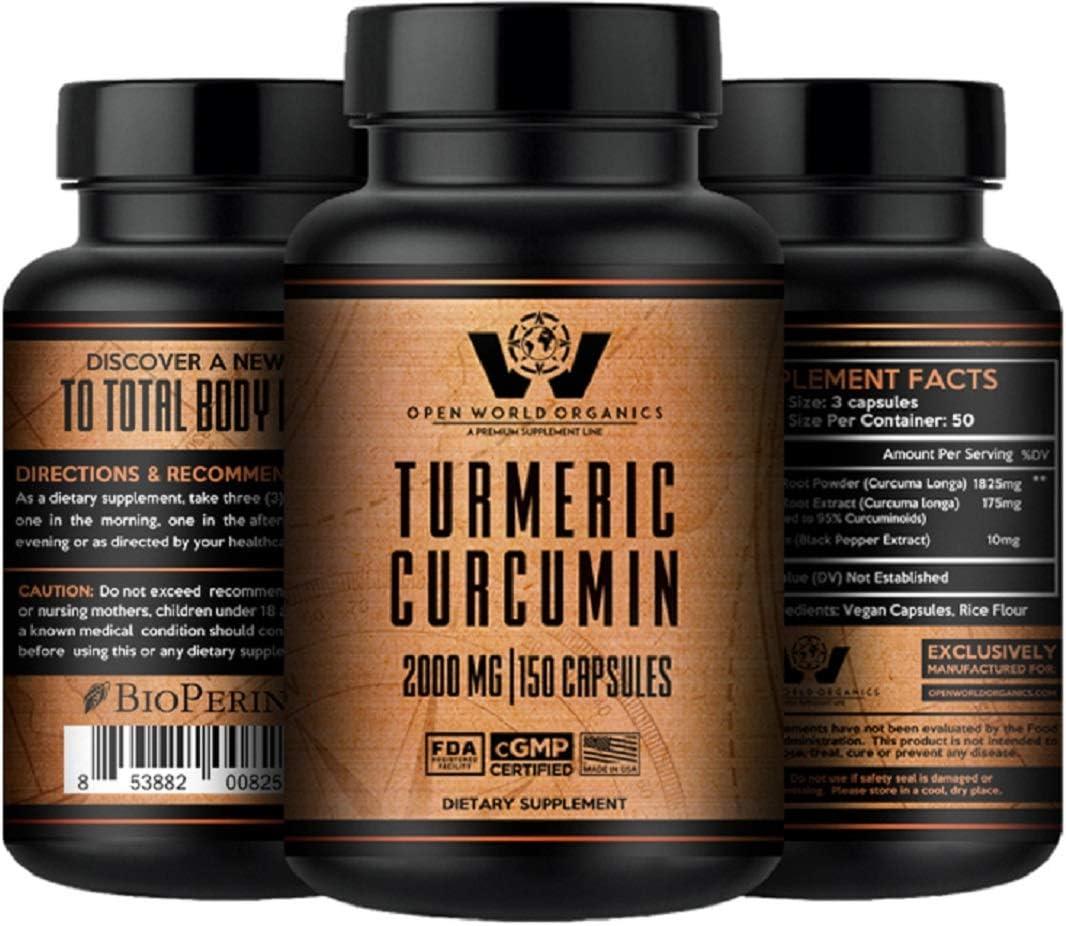 Turmeric Curcumin 2021 autumn and winter new with Bioperine - Strength 95% S trend rank MAX 2000mg
