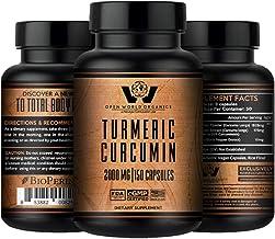 Turmeric Curcumin with Bioperine - 2000mg - MAX Strength - 95% Standardized Curcuminoids - Antioxidant,Anti-Inflammatory,J...