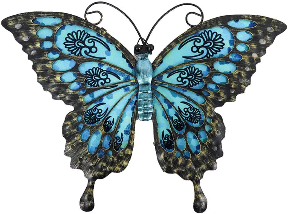 BGHYU quality assurance Blue Butterfly of Wall Decoration for Home Garden and Outd Max 42% OFF