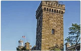 Tree26 Indoor Floor Rug/Mat (23.6 x 15.7 Inch) - Navesink Twin Lights Lighthouses Landmark Historic