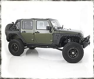 Smittybilt 76880 XRC Armor Front Fenders, 07-15 JK Wrangler Textured Black