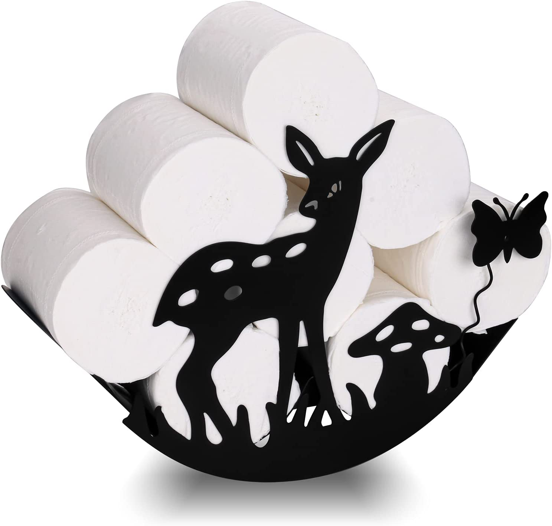 Deer San Jose Mall Larger Metal Wall Sculptures Holder Decor Toilet Paper Max 49% OFF Art