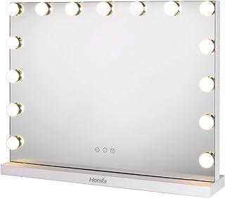 Homfa Miroir de Maquillage Miroir de Courtoisie Éclairage Ajustable 15 x 28W LED Lumières Miroir Lumineux Style Hollywood ...