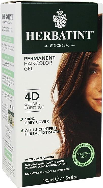 Herbatint - Gel Herbal tinte permanente 4D castaño dorado - 4 ...