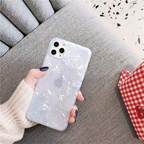 AAA&LIU Estuche para teléfono con Brillo Bling para iPhone 11 Pro MAX X 7 8 6 6s Plus para iPhone XR XS MAX Funda de Silicona Suave TPU, Blanco, para iPhone 7 Plus