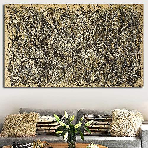 lienzo arte de pared Jackson Pollock《One Number 31》composición cuadros decoracionlienzos decorativos cuadros decoracion dormitorios decoración pared lienzos decorativo 30x60cm 12 'x24' Sin marco