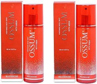 Ossum Blossom Pack of 2 Perfume Body Mist (190ml Each) for Women (380 Ml, Pack of 2)