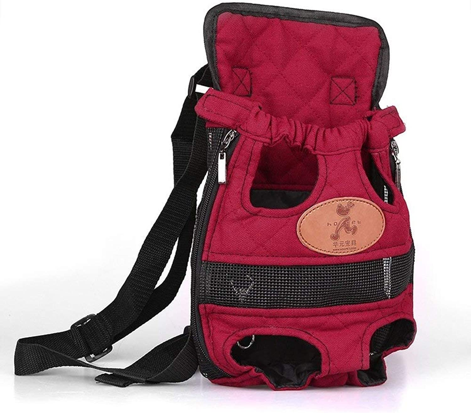 BeTti Pet Backpack go Out Chest Backpack Portable Bag Dog Teddy cat Backpack pet Chest Backpack Breathable (Size   Large)