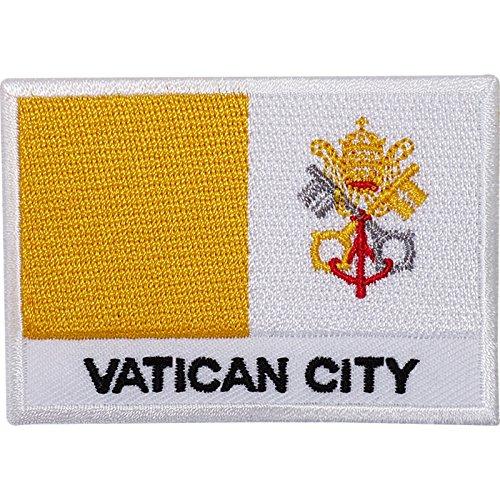 Vatikanstadt-Flagge, bestickt, zum Aufnähen oder Aufbügeln, Papst Rom Italien Kirche
