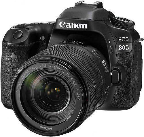Canon EOS 80D Super Kit with EFS 18-135mm f 3.5-5.6 IS USM Digital Camera - SLR(80DSK) 3Inch Display,Black (Australia...