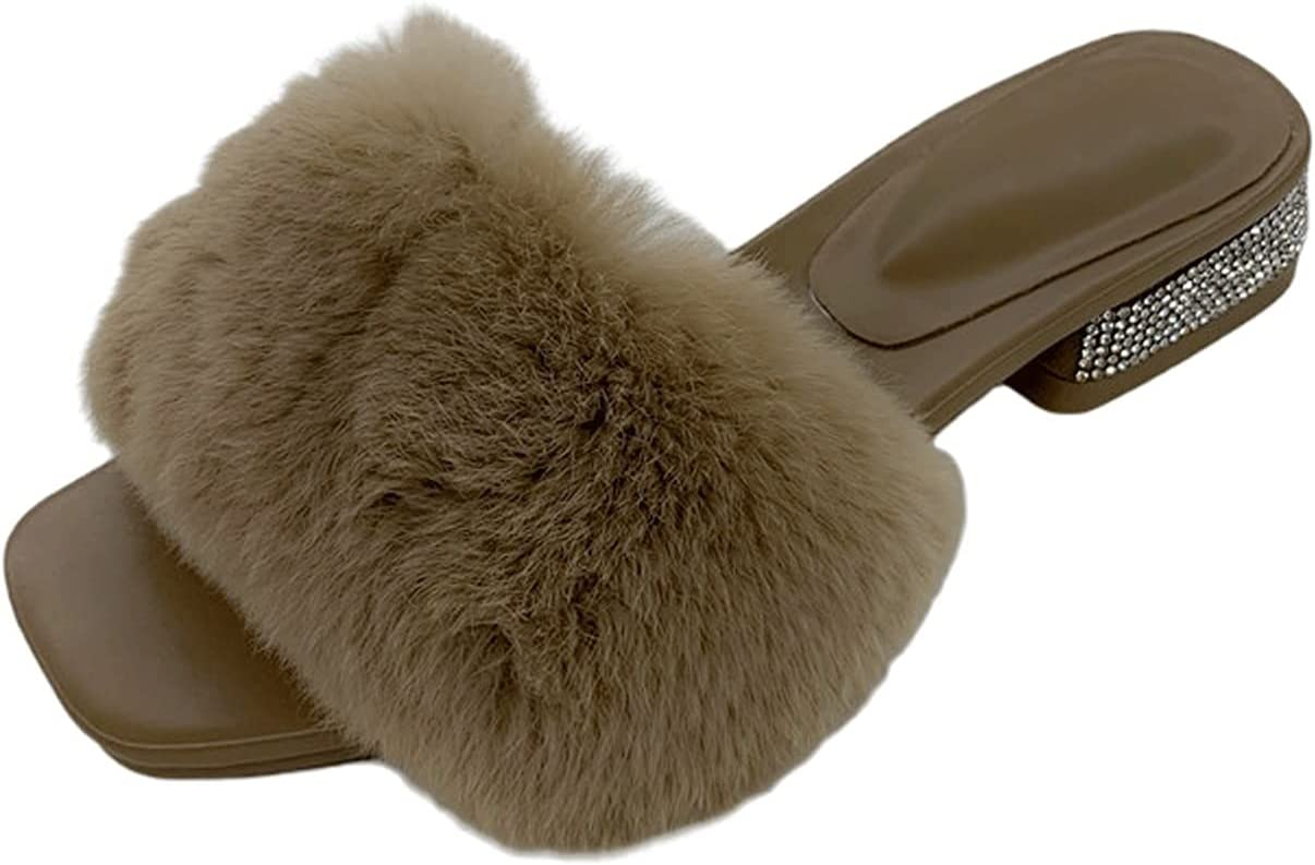 ZHANGQQ Plush Fluffy Slippers Fur Challenge the lowest price of Factory outlet Japan Soft