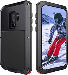 Mitywah Shockproof Case for Samsung S9 Case Military Grade Rugged, Heavy Duty Protective Case for Galaxy S9 Cover with Reinforced Hard Bumper Frame, Aluminum Metal Case Tough Armor for S9