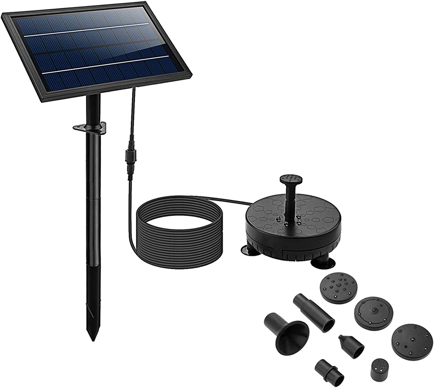 8W Solar Fountain Pump At the excellence price of surprise with Lights The Flo Water LED