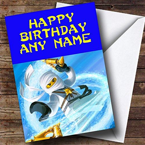 Gepersonaliseerde Ninjago Zane verjaardagskaart