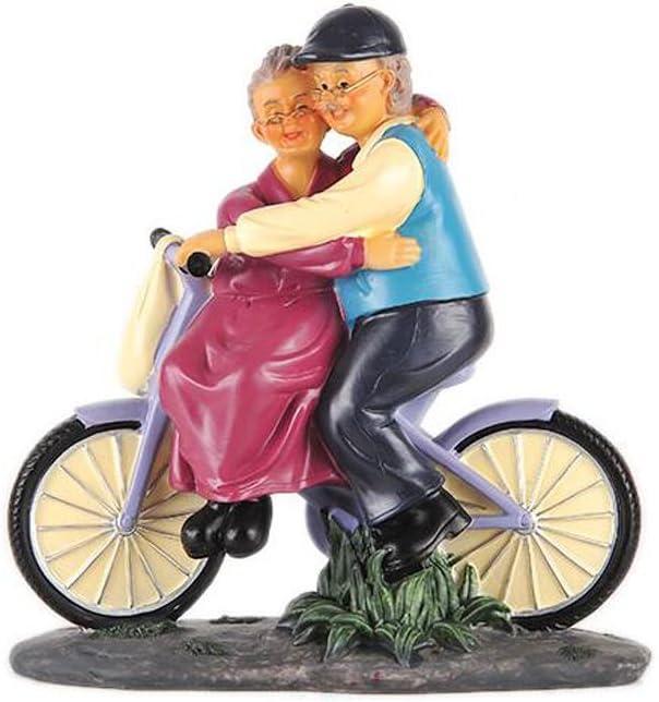 RRWW Pareja de Ancianos Estatua Edad Avanzada Vida Figuras de Resina Decoración for el hogar Gran Regalo for Aniversario Compromiso de Boda Escultura romántica / 10x9.05inches