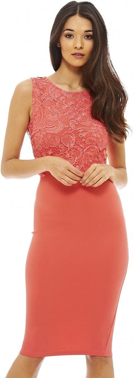 AX Paris Women's Lace Overlay Dress